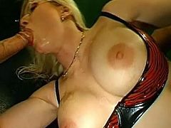 Big tits blonde cougar scream like crazy having her shaved ass hole smashed in anal porn