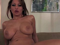 Alison Star is a passionate brunette with huge boobs. She shows off her sexy assets as she gets her vagina drilled by stiff cock from your point of view. She is ready to fuck day and night.