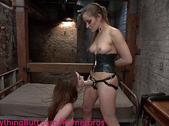 Natalie and Dana play the mistress/submissive roles. They especially like ass licking and strapon games.