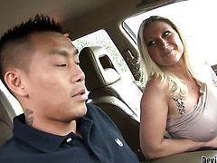 Devon Lee needs nothing but her man's hard ram rod in her mouth to be happy