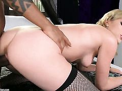 Blonde Lily LaBeau gets skull fucked