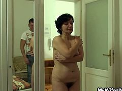 My Wifes Mom brings you an amazing free porn video where you can see how a horny mature brunette rides her son-in-law's cock til she reaches a massive orgasm.