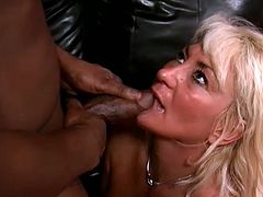 She was so hungry that day and this black dude makes a company for her. She blow his monster cock and gets fucked pretty hard!