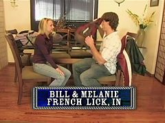 Everyone enjoys a hard fuck or a light bondage at home, like these ones. Bill and Melanie are trying bondage, after Melanie gave her man a short suck she stays on her back with her hands and legs tied as her man fucks her. On the other hand Kyle and Samantha are trying a hard fuck and they're loving it!