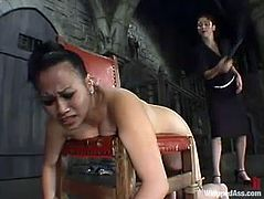 Two lusty and smoking hot chicks are going to perform in some wild insanity of BDSM fantasies! They get naked and a lot of tools are ready for BDSM.
