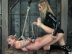 One of them gives away some pain and the other one is going to feel it on her body! Some outrageous BDSM porn video for your attention!
