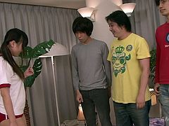 Watch this hot and sexy babe Ryo getting her pussy and her butthole fucked by some perverted jerks in Jav HD sex clips.