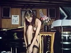 Curly brunette looks so appetizing that mature lesbian burns with desire to dive in her juicy slit. Enjoy watching hot vintage sex tube video featuring pussy licking scene.