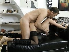 Alison Star takes Rocco Siffredis cum loaded cock in her hot mouth