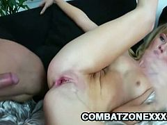 Combat Zone XXX brings you an amazing free porn video where the horny blonde teen Emily Kae gets fucked hard and deep into a spectacular orgasm while assuming very hot poses.