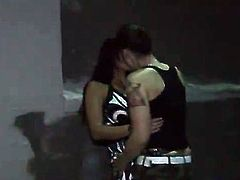 Tattooed lesbo shaggs Her Sleaze Friend's muff pie close to the Strap onto