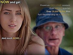 The poor grandpa can't sleep with two naughty young girls in the mood for fun. Jessica Rox and Chelsey Sun are drunked and  their sexual appetite rises and need a cock to calm their horny tight pussies down. His old dick gets hard under a double deepthroat blowjob. The old fart fucks the teeny girls rea good. Young and old got fun and fuck until cum went all out.