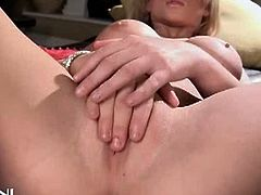 Supe hot blonde Madison Scott takes her clothes off to show her big massive tits! But that's nothing if we compare it to her super hot mastrubation!