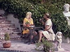 Watch how gorgeous Greek goddess lets one mortal polish her tasty bearded pussy with his tongue. Check out that soaking wt hairy muff getting licked.