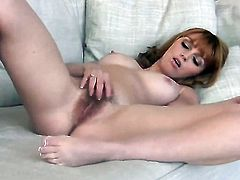 Marie McCray enjoys another masturbation session after she bares it all