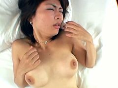 She may be already married to another man, but she just loves to have sex. Her tight hairy snatch got totally destroyed by his cock and she is seconds away to cum.