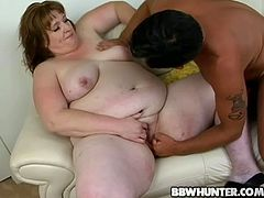 Horny dude fucks this fat mature bitch hard after she gives him a deep and hot blowjob. Watch this nasty BBW getting pounded.