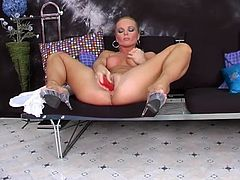 Dildo is the best toy she ever had in her pussy! Silvia Saint is her name and what she needs so bad is a huge sex toy!