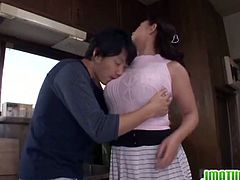 Japanese Matures brings you an amazing free porn video where you can see how the busty Japanese brunette milf Neko Ayami sucks a hard cock while flaunting her hot tits.