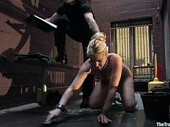 The minutes of hell with a smoking hot blond sex slave Hollie Stevens! She gets tied up and then her master starts making her feel quite sore, using some refined toys!