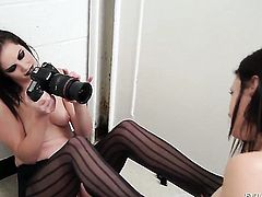 Kimberly Kane and Bobbi Starr show their love for pussy in lesbian action