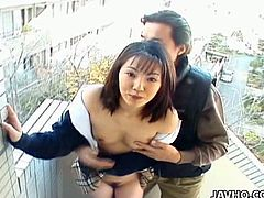 Seire is a Japanese student who loves to suck cock, especially outdoors where someone might be watching her play in her little skirt.Not only does she love to suck cock outdoors, Seire also loves to take it in her trimmed pussy. Watch this hottie play with serious cock outdoors.