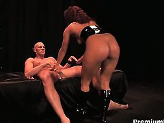 Sandra Romain has fire in her eyes as she gets her pussy fucked