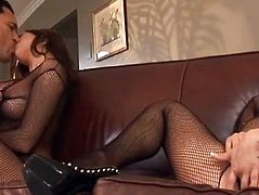 Two Hot Babe Shared In One Cock