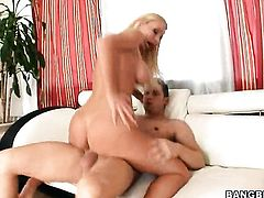Helena Sweet with juicy ass is on the edge of nirvana with mans rock hard meat stick in hands