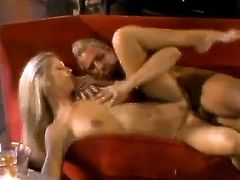 Fabulous blonde cutie Brooke Banner kneels in front of some guy and drives him crazy with a deepthroat blowjob. Then they fuck doggy style and in the reverse cowgirl position and seem to be unable to stop.