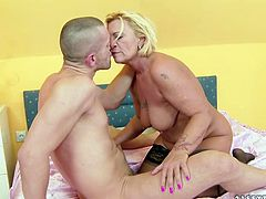 Kinky dude likes it hotter with hot tempered skilled mommas. He gives eager tongue job and rim job to one mature harlot in doggy style position.