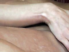 Daisy Lynn with giant tits and smooth cunt kills time rubbing her vagina