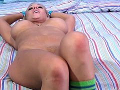 Horny babe with hot body and huge boobs just needs a cock no matter it is black or white. She shows her bubble but and soft breasts and then sucking a long and strong big black male cock. She admires that dick with a kiss, licks his balls and makes all the possible tasks to make him cum on her face.