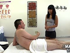 Take a look at this rough hardcore scene where a horny Asian masseuse has her wet pussy drilled by this client as she gave him an oil massage.