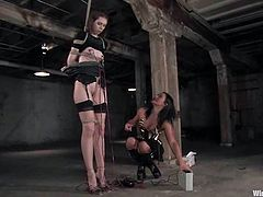 And here is one of the favorite sites of Kristine and Sandra Romain, the BDSM's most cruel mistress. This femdom is something that can't be described with simple words!