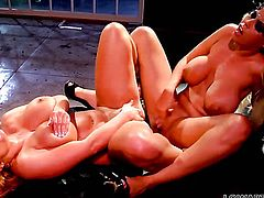 Shyla Stylez has a great time stimusexy Bridgette B.s slit