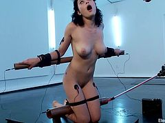 There is a whole system of wires to torture Raven Rockette