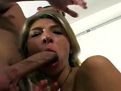 Carmen Black and one more chick are having a good time with two studs indoors. The bitches suck the dudes' schlongs and then fuck the men in cowgirl position.