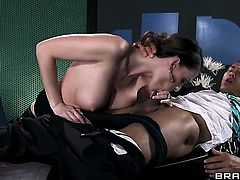 Keni Styles is horny and cant wait no more to pound Jennifer Dark with his hard meat stick
