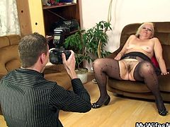 wifes mom poses like a whore