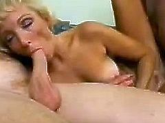 This mature hoe gets two horny guys to bang her devastated cunt. She drained their balls with her amazing skills and gets destroyed her pussy .