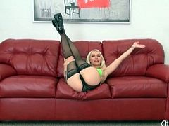 Stockings and panties on hot chick Stevie Shae