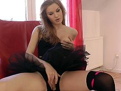 Young Diamond Cross turns into a right slut during hardcore sex with senior guy
