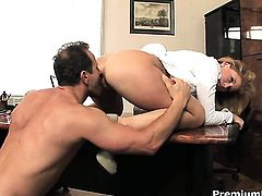 Brooklyn Lee shows her love for beaver stuffing
