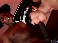 Naughty babes Cindy Dollar and Simone Style enjoy hardcore pounding. First, one got her tight pussy stretched by black cock, while the other got her butthole stretched!
