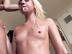 Alexia Sky gets satisfaction with guys love wand in her eager mouth