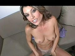 Sensual babe Isabella wants to show us her best! She's feeling horny and wears her favorite pantyhose. Those nylons are special for her because they make her act like a naughty slut. See how she pulls them down just a bit and then plays with her perfect ass and her pussy. This beauty takes her time and so do we.