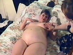 Check this retro clip where two fat ladies enjoy their bodies with a guy who fucks them one by one. This women love to lick pussies and dark balls!
