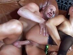 Gorgeous busty babe Eva Angelina gets a stuffing