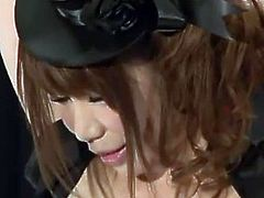 Girl From Japan Stripped For An Audience